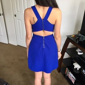 Zara vivid blue dress